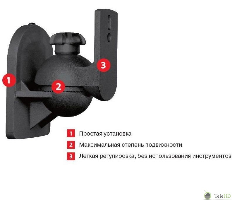 Кронштейн Ultramounts UM864B (до 25кг) Black