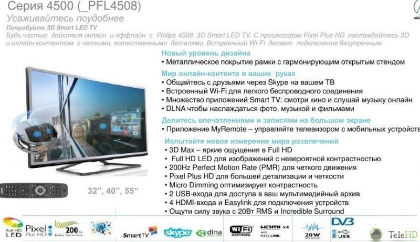 Дополнительный вид philips 32pfl4508